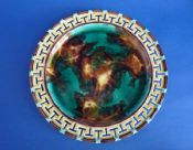 Superb Wedgwood Reticulated 'Greek Key Border' Majolica Plate c1866